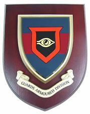 GUARDS ARMOURED DIVISION CLASSIC HAND MADE  REGIMENTAL MESS PLAQUE