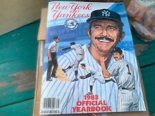 VINTAGE OFFICIAL 1983 NEW YORK YANKEES YEARBOOK - MATTINGLY ROOKIE - MANY STARS