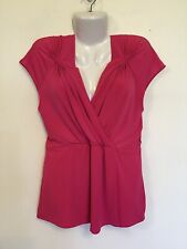 JANE LAMERTON NWOT Size 16 Pink Detailed Front Top Work Office Smart Casual