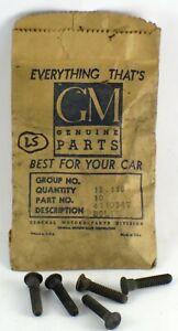 1939-1941 Buick Olds Pontiac NOS cowl-belt molding bolt 4110347