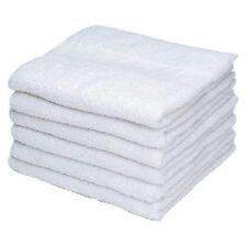 24 (2 DOZEN) WHITE 100% COTTON HOTEL WASH CLOTHS 12X12 ECNOLODGE SELECTS
