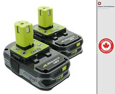 New 2 Pack Ryobi P107 18V 1.5Ah ONE+ Compact Lithium-Ion Battery