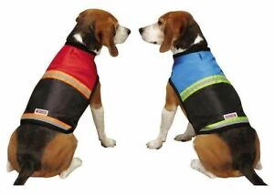 KONG Safety Reflective Dog Vest Jacket Stripe Traffic Outdoor RED BLUE S S/M M