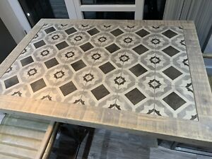 Rustic Tiled Table