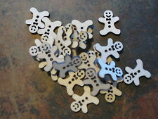 25x Birch Wooden Mini Gingerbread Men. Craft Embellishments 30mm(h) x 25mm(w)
