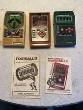 Vintage Mattel Electronic Games, Football, Baseball, Basketball, Nice Shape!
