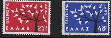 Greece Scott #739-40, Singles 1962 Complete Set FVF MNH