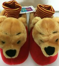 Disney Store Winnie the Pooh Plush Slippers Size 11/12 XL for Kids