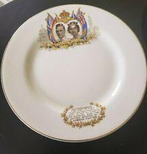 "1939 King George VI Queen Elizabeth Canada USA Visit 7"" Commemorative Plate"