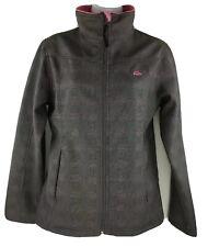 Womens Snozu Snow Performance Gray Plaid Pink Collar Fleece Lined Jacket Medium