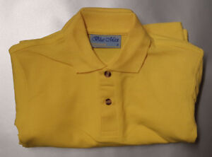 AGE 2 YELLOW BLUE MAX PENTHOUSE POLO PLAIN 65/35 SCHOOL SPORT POLO PACK
