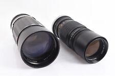 Vintage Lot of 2 Manual Focus Canon FL Camera Lenses PARTS OR REPAIR V72