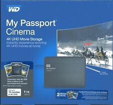 Lot of 2 WD My Passport NEW 1TB Hard Drives USB 3.0 BRAND NEW -WDBZKS0010BBK