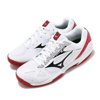 Mizuno Cyclone Speed 2 White Black Red Men Volleyball Badminton Shoe V1GA1980-08