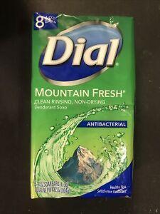 Dial Mountain Spring Antibacterial Deodorant Soap 1 Pack 8 Bars Each 4.0 Oz