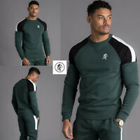 Gym King Mens Designer Contrast Core Plus Crew Neck Sweatshirt Jumper Sweater