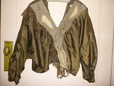 Vintage Jungle Ethnic Golden Brown Silky SUEDE Snakeskin Gold cloutées Top Medium