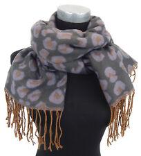 Damenschal Leopard lila grau braun Ella Jonte Leo Schal Herbst Winter Neue Ware