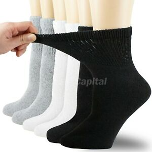 For Womens Mens Non Binding Top Circulatory Diabetic Cotton Low Cut Ankle Socks