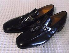 NEW Vtg 1960 Bob Smart Black Patent Hipster Tassels SlipOn Dress Shoe Size 8.5D
