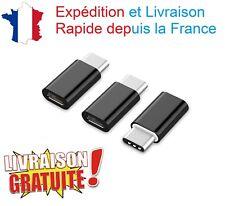 Lot 3 Adaptateur Convertisseur USB 3.1 Type C Male vers Prise Femelle Micro USB