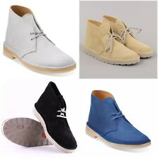 Clarks Mens Suede Leather Desert Boots, Various Styles & Colours - Sizes 6 - 11