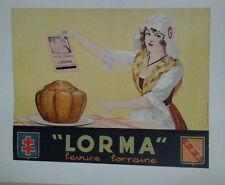 AFFICHE ORIGINALE ANCIENNE LEVURE LORRAINE LORMA
