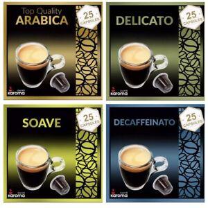100 Capsules Compatible Nespresso Machines! ARABICA,SOAVE,DELICATO,DECAF