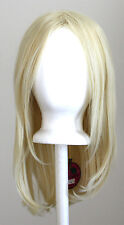 17'' Long Straight No Bangs Flaxen Blonde Cosplay Wig NEW