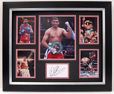 Amir KHAN Signed FRAMED Autograph Photo DISPLAY AFTAL COA World Champion Boxer