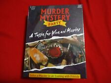 A TASTE FOR WINE AND MURDER MYSTERY PARTY BY UNIVERSITY GAMES SEALED NEW