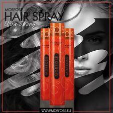 3 X Morfose Pro Style Hair Spray Ultra Strong 400ml DEAL