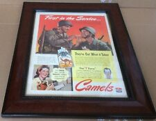 "1943 Advertising for Camel Cigarettes ""First in the Service...""  SOLDIERS"