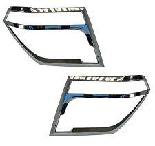 Chrome Headlamp Guards for Nissan Navara D40 pickup covers headlight protector