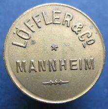Old Rare Deutsche token - Mannheim - Loffler & Co -10 -20337.1 -mehr am ebay.pl