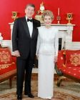PRESIDENT AND FIRST LADY REAGAN IN RED ROOM 8x10 SILVER HALIDE PHOTO PRINT