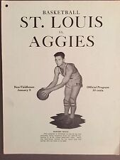 """1939""""RARE"""" OKLAHOMA A&M vs ST.LOUIS OPENING OF GALLAGHER HALL basketball program"""