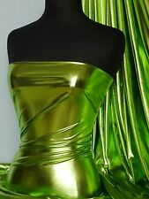 Lime Green Wet Look 4 Way Stretch Lycra Fabric NG253 LMGR