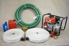 Home Wildfire Protection - Complete Fire Hose Water Pump Kit - Free Shipping