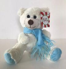 "NWT Animal Adventure Polar Bear Plush White Teddy Blue Scarf Sweet Sprouts 7"""