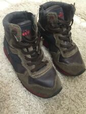 DIADORA Heritage kids boy sneakers shoes 10 28 brown high warm Italy designer