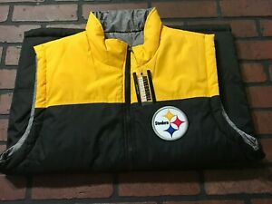 Pittsburgh Steelers NFL Reversible Vest Full Zip Men's Size Medium