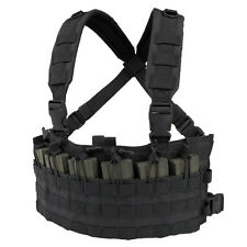 Condor MCR6 BLACK MOLLE Rapid Assault Chest Rig w/Rifle Magazine Pouches
