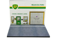 Diorama présentoir Station Service BP - 1/43ème - #43-2-B-B-102