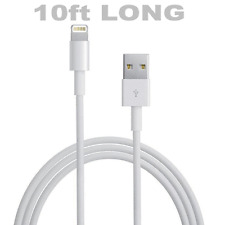 10ft Lightning USB Sync Charger Cable iPhone 7/6/6S Plus/5S/5C