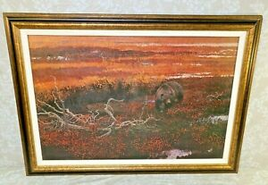 """Ramblin Grizzly"" by Robert Kuhn Famed Wildlife Artist Artagraph Oil on Canvas L"