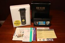 Vintage Vcr Voice Programmer Universal Remote - Complete In Box w/ Vhs How-To