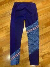 ATHLETA Leggings Purple Blue Coral Stripe Size XSP XSmall Petite