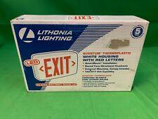 Lithonia Lighting Quantum Thermoplastic White Housing LED Emergency Exit Light