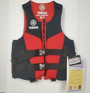 "Yamaha Neoprene Life Vest PFD w Side Handles MAR-21HAN-RD-SX - Chest 30-36"""